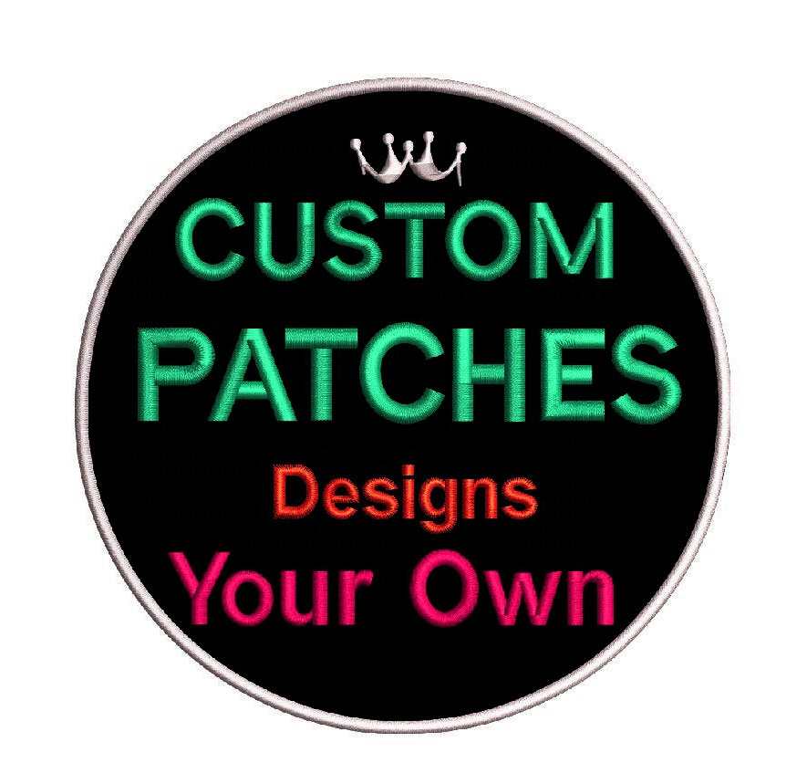 Custom embroidery iron on patches