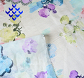 Beautiful 100% Polyester Chiffon Woven Flower Digital Printing Fabric For Dress And Top