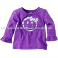 Quality cotton frill kid clothes, child frill clothes