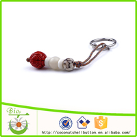 10.5cm red engrave chinese lucky symbol beaded custom cell phone keychains, mobile keychains
