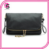 hot selling women ladies soft pu leather double zipper small messenger bag