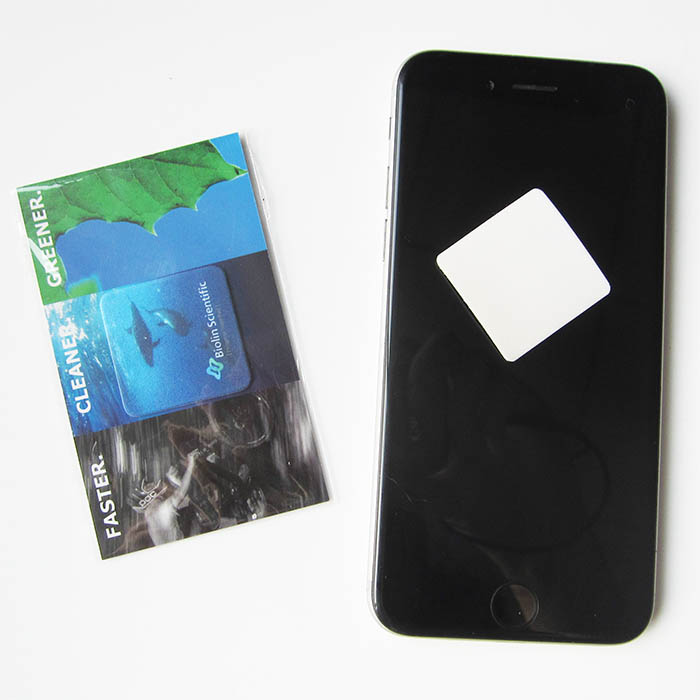 Adhesive Microfiber Sticky Mobile Phone Cleaning Pad Sticker Mini Screen Cleaner