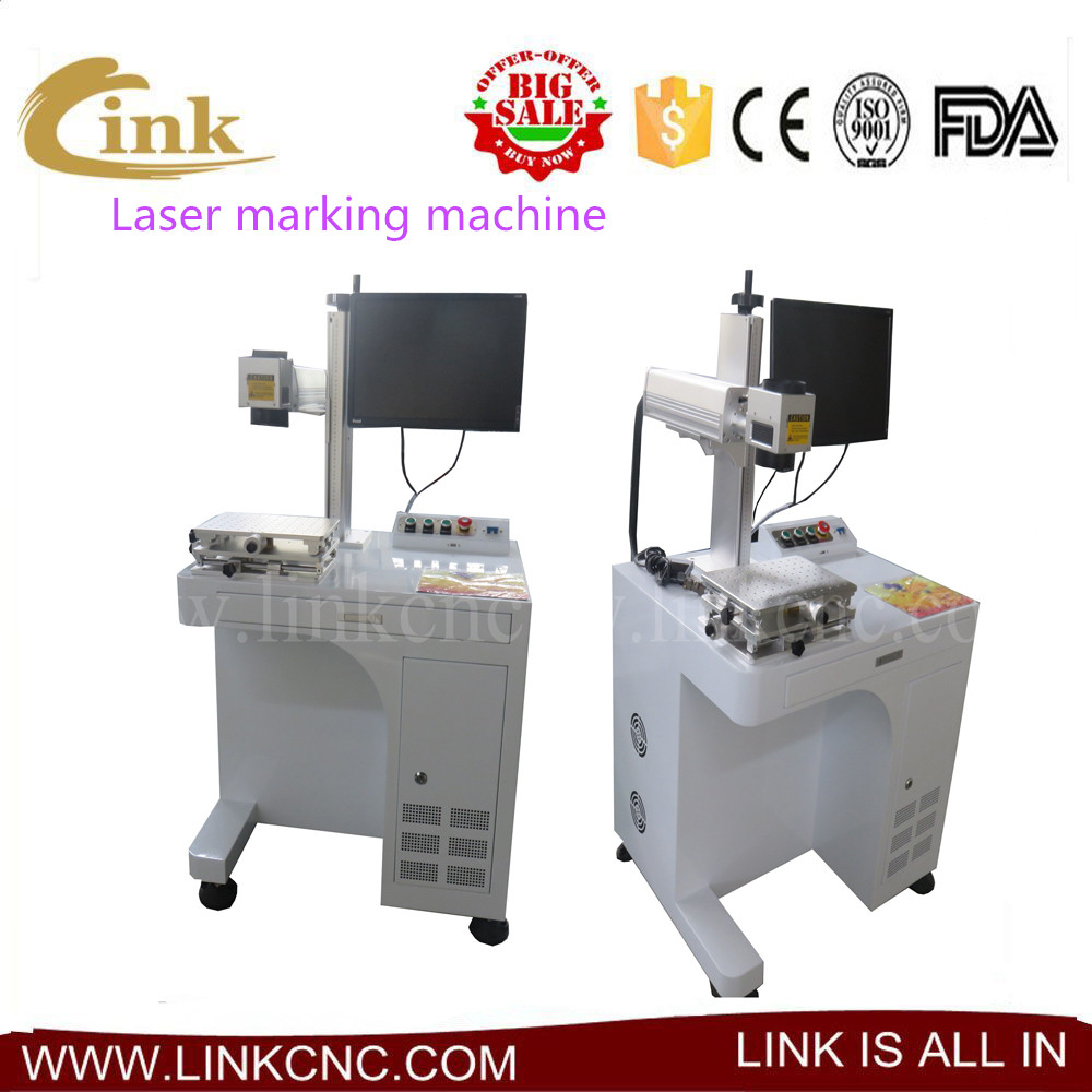 Factory supply Laser marking on jewelry/ ring watch mini fiber 20w/30w LINK laser marking