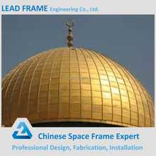 Large Span Light Weight Steel Dome Structure for Mosque Dome