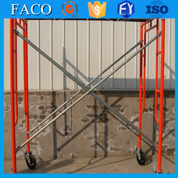 FACO h type construction used mobile steel frame scaffold