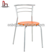 Cheap modern sex home furniture replica dining chairs stackable restaurant chair PP plastic seat chair with metal frame