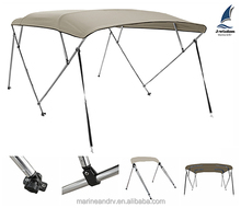 4 Bow 600D Pigment Polyester Boat Canopy Bimini Top With Support Poles