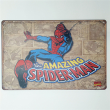 Amazing Spider Man Super Hero Retro Rustic Tin Metal Sign
