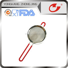 hot selling kitchen tools stainless steel strainer with silicone handle 25cm