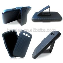 Factory cell phone holster case for samsung galaxy s3 i9300 with kickstand