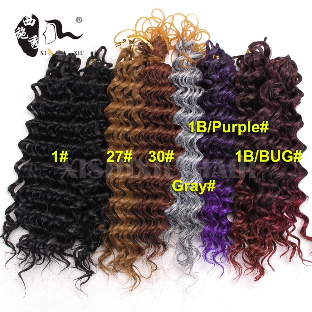 2017 new arrivals Deep Wave Synthetic Hair Extension 2pcs per pack jerry curl crochet braids twist Curly Synthetic Weave