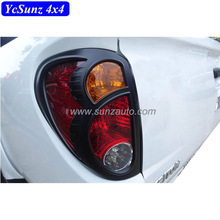 2009 matte black Tail light cover ABS Rear Tail lamp cover for Mitsubishi l200 Triton 2006 Accessories