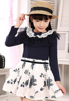 Kid Girls Dresses Free Shipping Latest Child Cotton Frock Design For Kids Dress Childrens