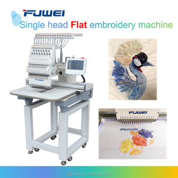 Fuwei single head barudan computerized embroidery machine prices for flat and cap