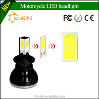 High quality 4 side chips COB leds h4 h6 h7 24w bajaj pulsar 180 motorcycle headlight