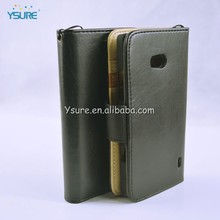 Premium leather cell phone case for BLU Deco Pro/ BLU Q350 with 3 credit card slots