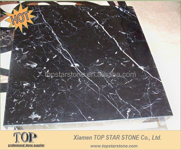 TOPSTAR Polished Black marquina tiles