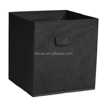 Foldable Fabric non woven storage cube bins with handles for household use