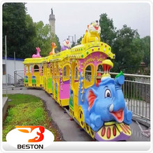 Amusement park backyard train mini electric train rides for sale