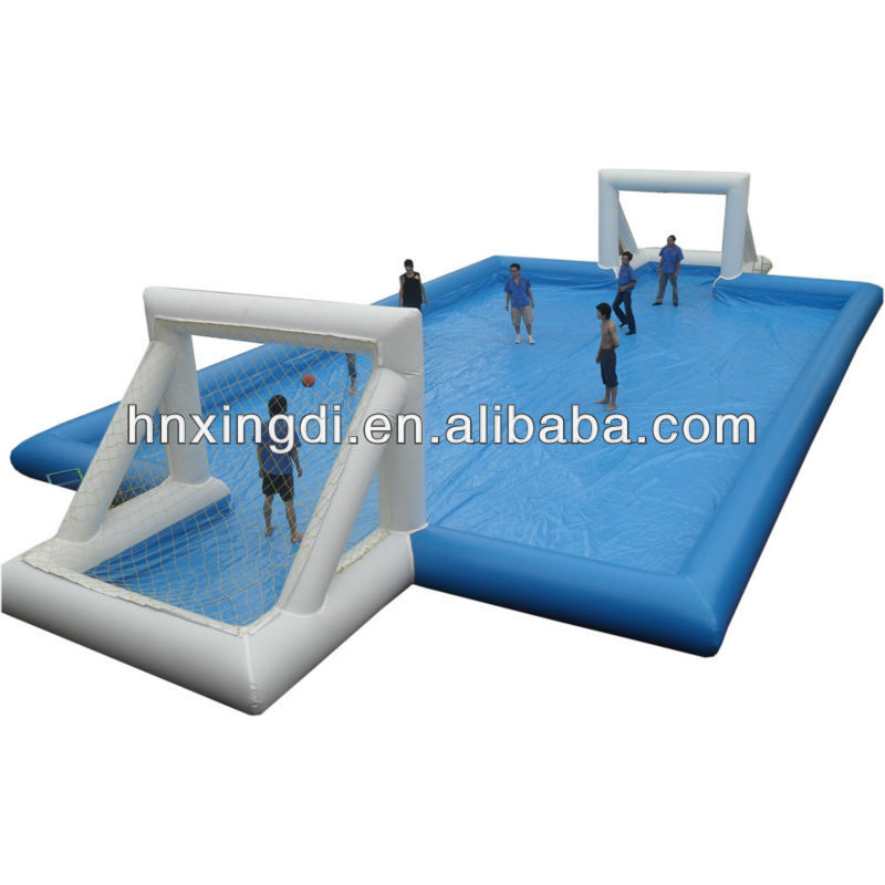 0.9mm PVC inflatable football water pitch inflatable beach water park