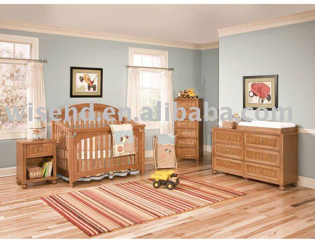 W bb 57 de madera maciza muebles del beb conjuntos de for Muebles bebe baratos