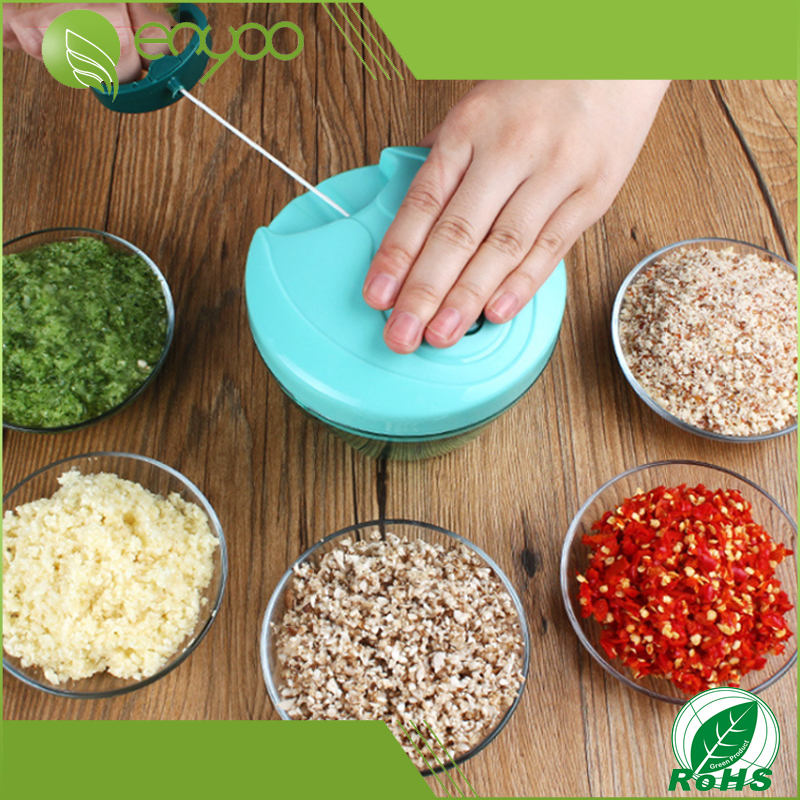 Multi-Function Kitchen Manual Food Chopper, Hand Held Pull Vegetable Chopper