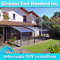 East Standard curve glass sun rooms/glass sunroom/aluminum extrusion sunroom