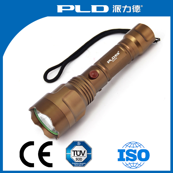 Outdoor camping LED rechargeable led torch lithium batteries led flashlight streamlight