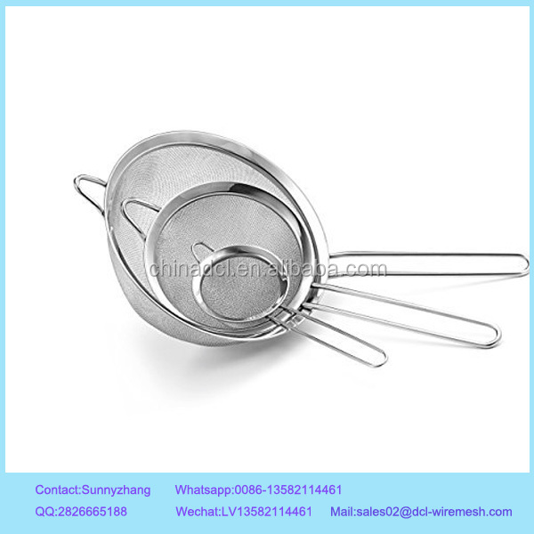 Flour Sifters Sieve Strainer /stainless steel strainer10''