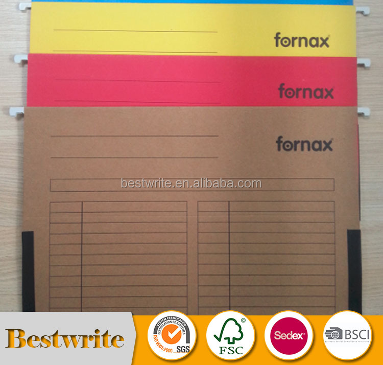 A4/FC 180gsm Colored Paper Suspension Hanging File With Index Tab