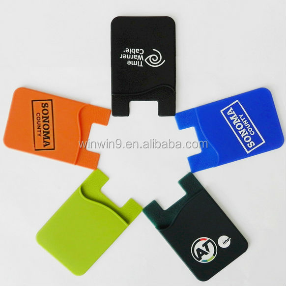 Mobile phone accessories,silicone card holder credit card holder