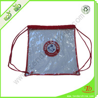 With OEM Printing And Color Rope Drawstring Clear Backpack