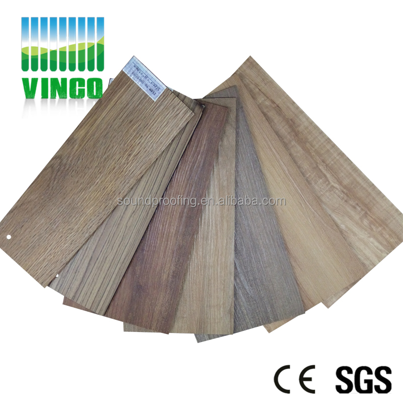 Shenzhen Vinco Supplier Sound insulation pvc flooring price in india look rubber flooring