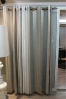 Linen & cotton organza window curtain