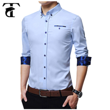 100 % Cotton Long Sleeve Contrast Cuff Fancy New Design Men Trendy Casual Shirt