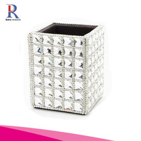 Rhinestones Organizer Pencil Pen Makeup Brush Holder
