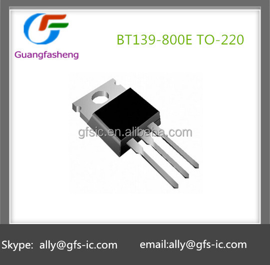 BT139-800E The bidirectional thyristor 800V/16A/5W TO-220 New and original