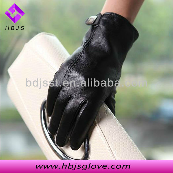 Women nappa thinsulate leather ladies gloves
