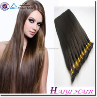 Double Drawn Prebonded Hair Peruvian Gray Remy Hair Extensions