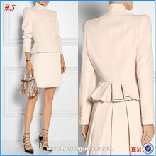 OEM Service Wholesale Suits Latest Fashion Design Ladies Office Wear Dresses Peplum Dress of Women Suit