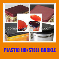 Airtight lid with steel ring buckle for metal can usage