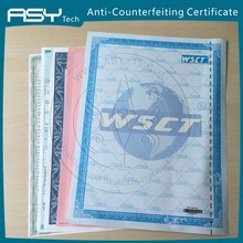 Manufacture anti-counterfeiting feature watermark paper security certificate printing