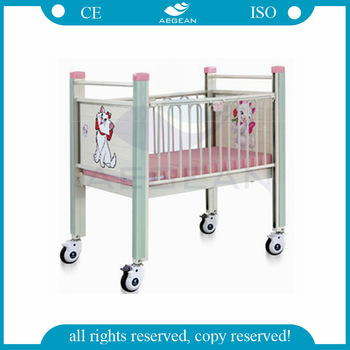AG-CB004 OEM metal material hospital bed pediatric for kindergarten
