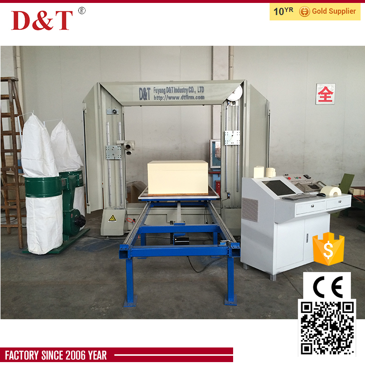 CNC contour cutting urethane foam machine for cutting rigid Polyurethane block