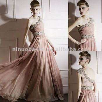 NY-2519 Designer One Shoulder Long Red Carpet Formal Dress