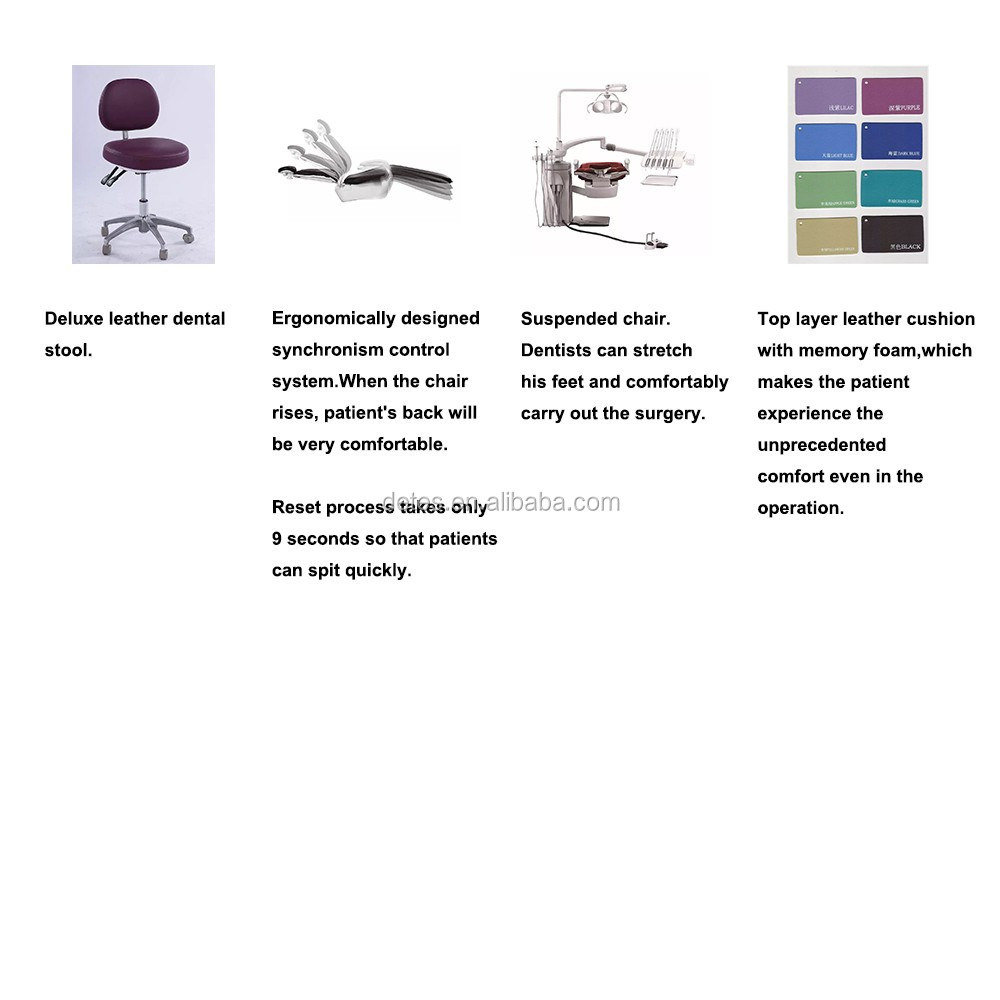 Detes high quality top mounted type dental chair TS-TOP301