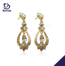 Luxurious fashion plating gold earrings for young girls