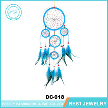 India Custom Multilayer Feathers Wall Hanging Decoration Dream Catcher Wood Beads Handmade Lucky Indian Dream Catchers