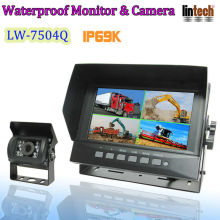 TFT LCD waterproof car backup camera system for earth moving machinery
