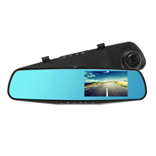 4.3 inch Display Dual Lens Car Camera DVR Recorder with Rear View Mirror